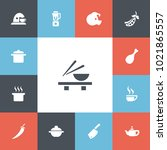set of 13 editable meal icons....