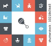 set of 13 editable child icons. ...