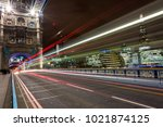 trail light at tower bridge ...   Shutterstock . vector #1021874125