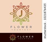 flower initial letter j logo... | Shutterstock .eps vector #1021876435