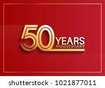 50 years anniversary logotype...   Shutterstock .eps vector #1021877011