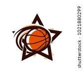 basketball star sport logo | Shutterstock .eps vector #1021880299