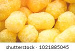 Small photo of Full view of sweet corn puff snacks