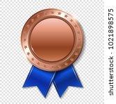 realistic 3d bronz trophy... | Shutterstock .eps vector #1021898575