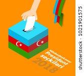 azerbaijan presidental election ... | Shutterstock .eps vector #1021901575