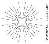 vintage sunburst design vector... | Shutterstock .eps vector #1021906384