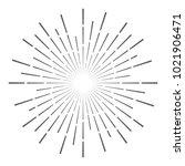 vintage sunburst design vector... | Shutterstock .eps vector #1021906471