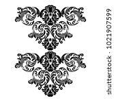 vector vintage baroque card.... | Shutterstock .eps vector #1021907599