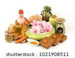 Small photo of Turmeric and extract ,Herbs of Thailand have property medicine and to use handmade natural soap.(spa treatment)
