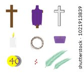 a set of vector icons for lent... | Shutterstock .eps vector #1021913839