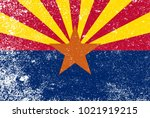 the state flag of the  state of ... | Shutterstock . vector #1021919215
