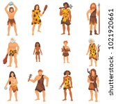 primitive people vector... | Shutterstock .eps vector #1021920661