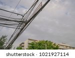 aesthetic pollution with power... | Shutterstock . vector #1021927114