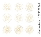 golden vintage sunburst design... | Shutterstock .eps vector #1021932241