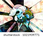 stained glass forever series.... | Shutterstock . vector #1021939771