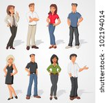 group cartoon business people | Shutterstock .eps vector #102194014