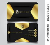 premium gold black name card... | Shutterstock .eps vector #1021941697