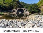 amazing reflection of devil's... | Shutterstock . vector #1021943467