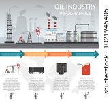 vector oil rig industry of... | Shutterstock .eps vector #1021945405
