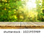 empty wooden table background | Shutterstock . vector #1021955989