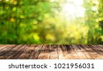 empty wooden table background | Shutterstock . vector #1021956031