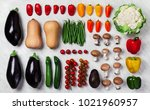 a variety of fresh vegetables... | Shutterstock . vector #1021960957