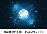 global network connection world ... | Shutterstock .eps vector #1021967794