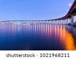 coronado bridge at dusk   a... | Shutterstock . vector #1021968211
