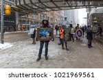 toronto  canada   february 7th  ... | Shutterstock . vector #1021969561