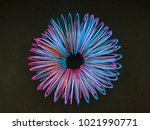 circle with spirals of... | Shutterstock . vector #1021990771