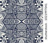 abstract handmade ethno zen... | Shutterstock .eps vector #1021997041