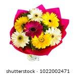 big beautiful bouquet of... | Shutterstock . vector #1022002471