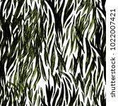 zebra tribal tiled print.... | Shutterstock . vector #1022007421