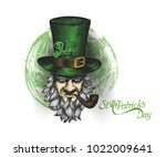 saint patrick's day character... | Shutterstock .eps vector #1022009641