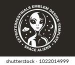 the figure of an alien on the... | Shutterstock .eps vector #1022014999