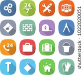 flat vector icon set   gear... | Shutterstock .eps vector #1022020051