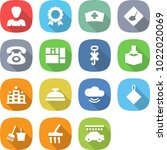 flat vector icon set   woman... | Shutterstock .eps vector #1022020069