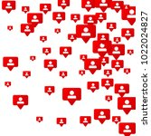follow icon. notifications with ... | Shutterstock .eps vector #1022024827