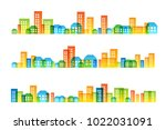 cityscape colorful decorations. ... | Shutterstock .eps vector #1022031091