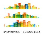 cityscape colorful decorations. ... | Shutterstock .eps vector #1022031115