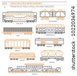 special machinery collection.... | Shutterstock .eps vector #1022036974