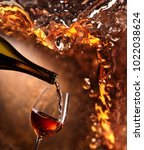 Wine Being Pouring Into A - Fine Art prints