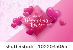happy women's day. 8 march...   Shutterstock .eps vector #1022045065