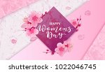 happy women's day. 8 march... | Shutterstock .eps vector #1022046745