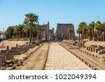 temple of luxor egypt   large... | Shutterstock . vector #1022049394