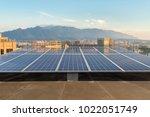 rooftop solar energy ... | Shutterstock . vector #1022051749