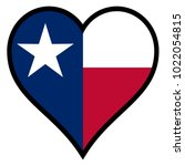 the flag of the state of texas... | Shutterstock . vector #1022054815