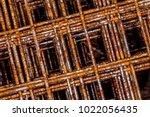 Rusty Wire Mesh Macro Closeup...