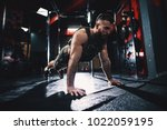 sporty shape bodybuilder guy in ... | Shutterstock . vector #1022059195