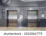 front view of modern elevator...   Shutterstock . vector #1022061775